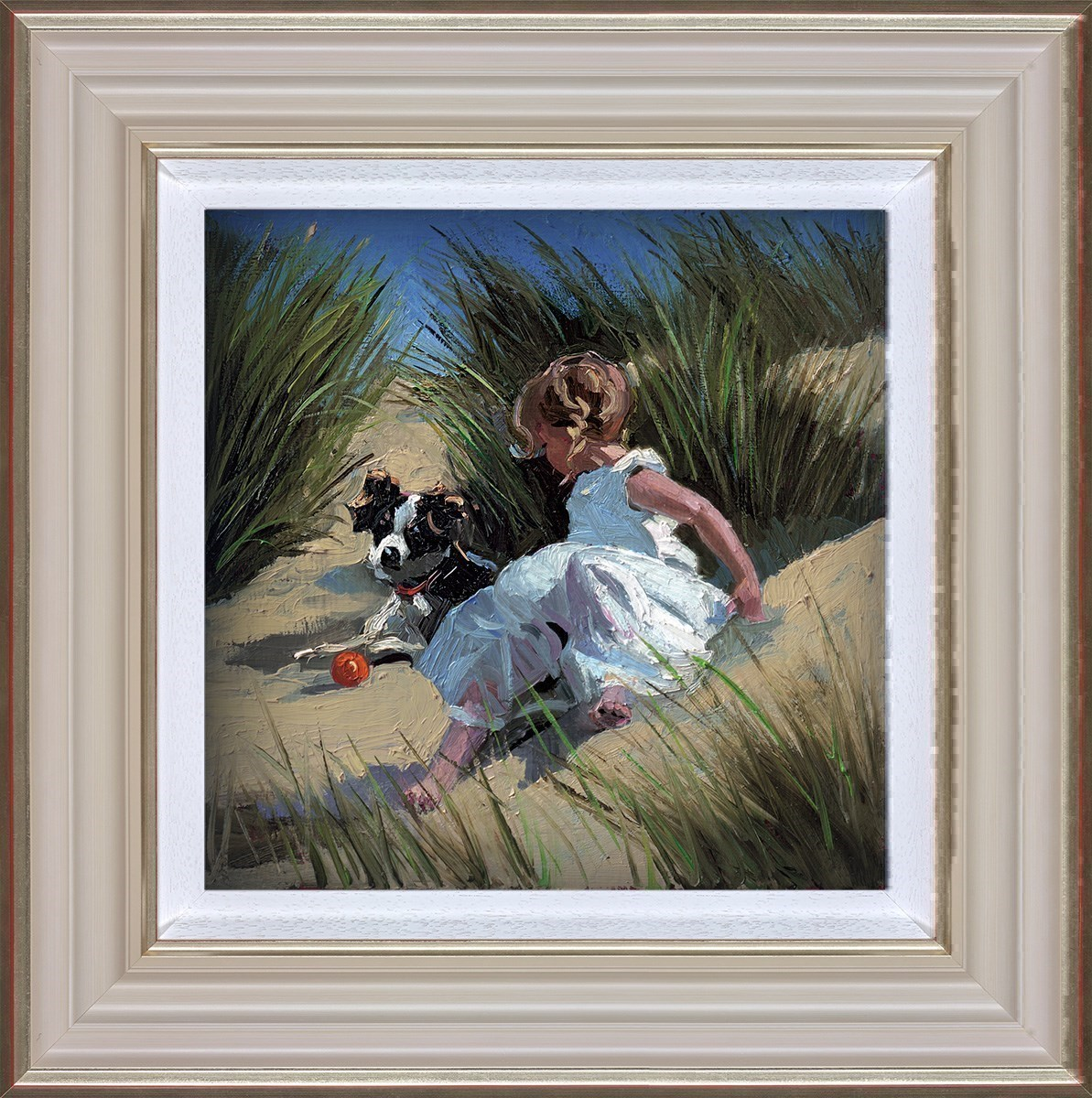 Playmates by Sherree Valentine Daines - Hand Finished Limited Edition on Canvas sized 11x11 inches. Available from Whitewall Galleries